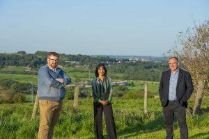 Andrew Cooper, Hawarun Hussain, Matt Edwards stood in the Tong Valley